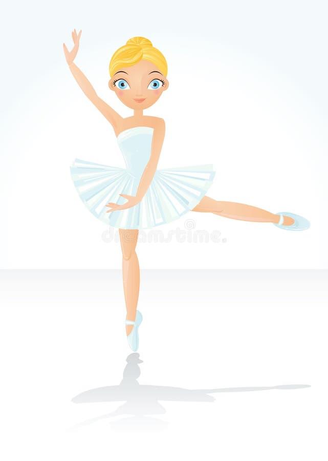 Mooi het dansen ballet vector illustratie