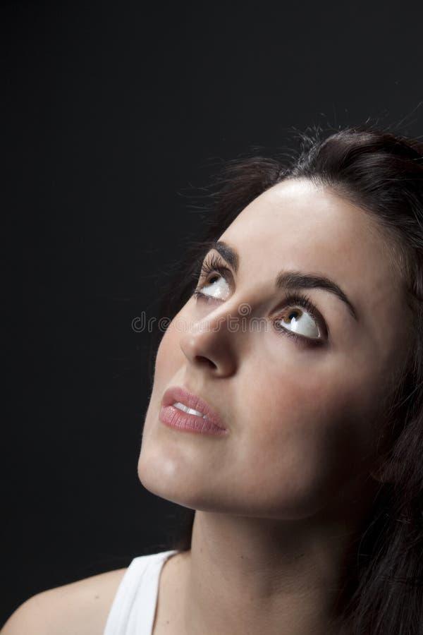 Mooi het dromen vrouwenportret royalty-vrije stock foto
