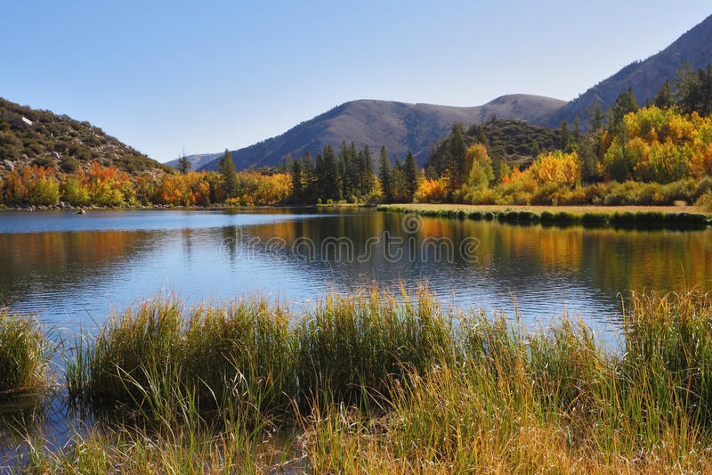 Mooi het meer van het Noorden in Californië royalty-vrije stock afbeeldingen
