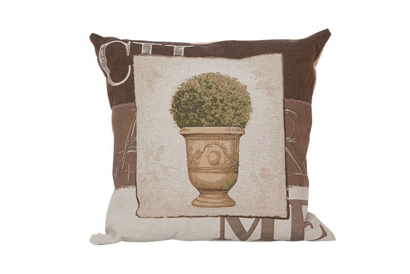 Mooi hoofdkussen met tapijtwerk royalty-vrije stock foto's
