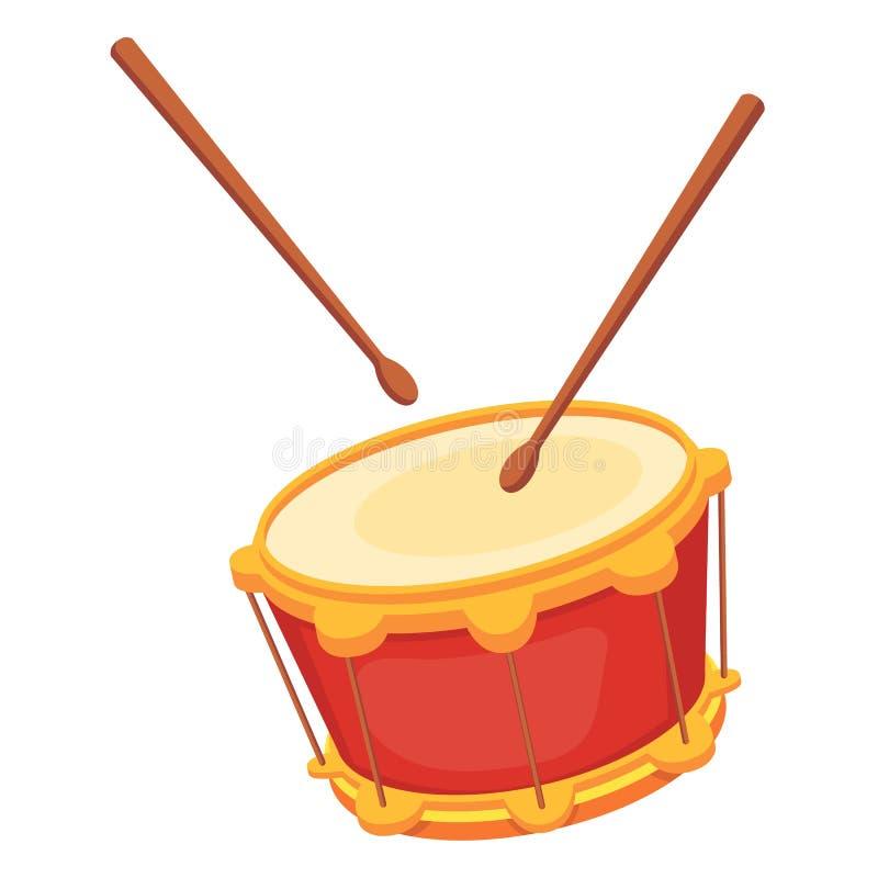 Mooi houten percussie muzikaal instrument - trommel met eetstokjes royalty-vrije illustratie