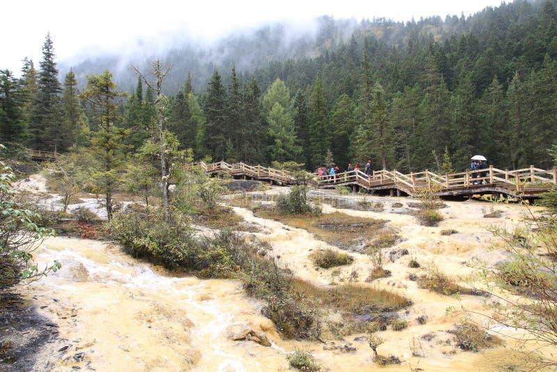 Mooi Huanglong-Natuurreservaat in Sichuan van China royalty-vrije stock afbeeldingen