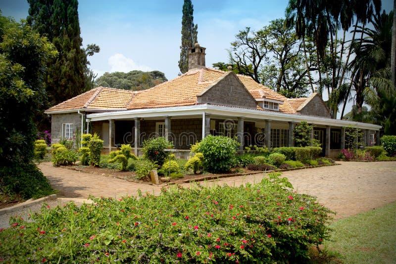 Mooi huis in Kenia stock foto's