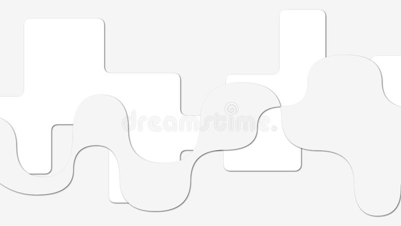 Mooi Illustratiebehang met wit Abstract ontwerp als achtergrond, geometrisch patroon royalty-vrije illustratie