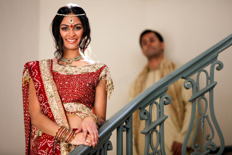 Mooi Indisch Paar stock afbeeldingen