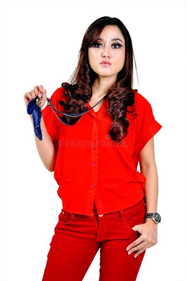 Mooi Indonesisch Model stock afbeelding