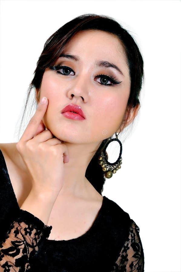 Mooi Indonesisch Model stock afbeeldingen