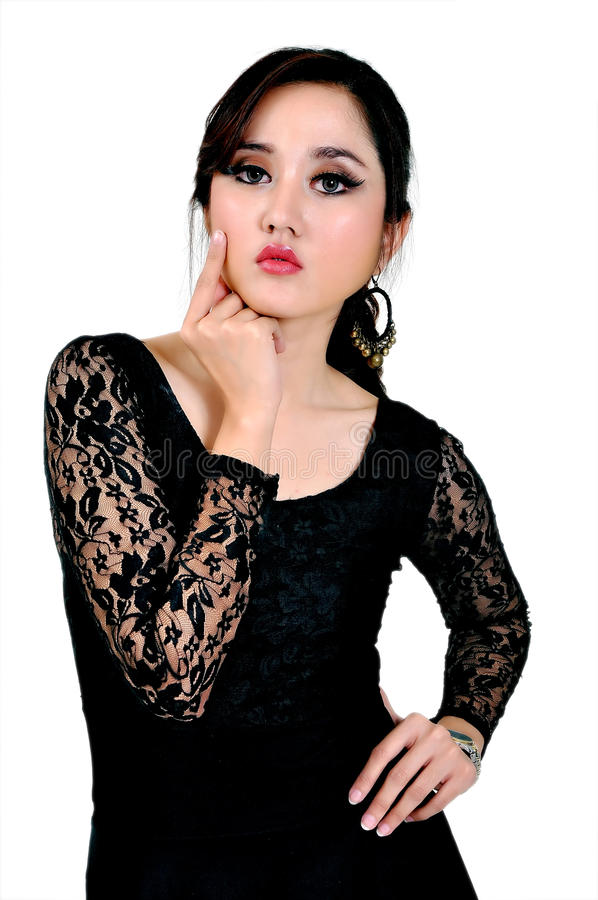 Mooi Indonesisch Model royalty-vrije stock afbeelding