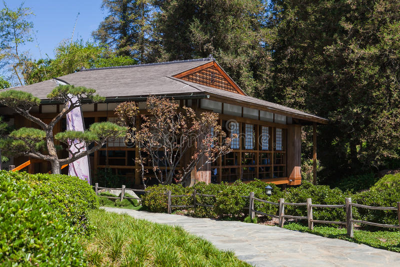 Mooi Japans groen park in de zomertijd stock fotografie
