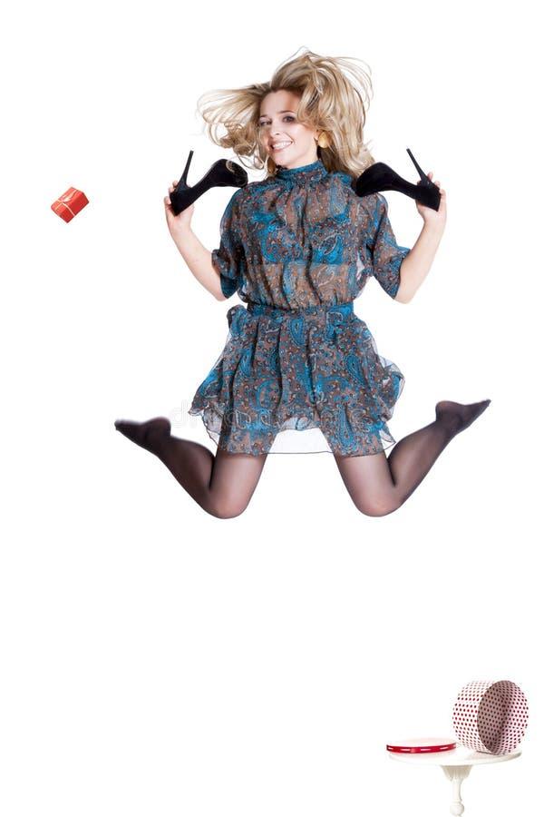 Mooi jong blonde die kleding dragen royalty-vrije stock fotografie