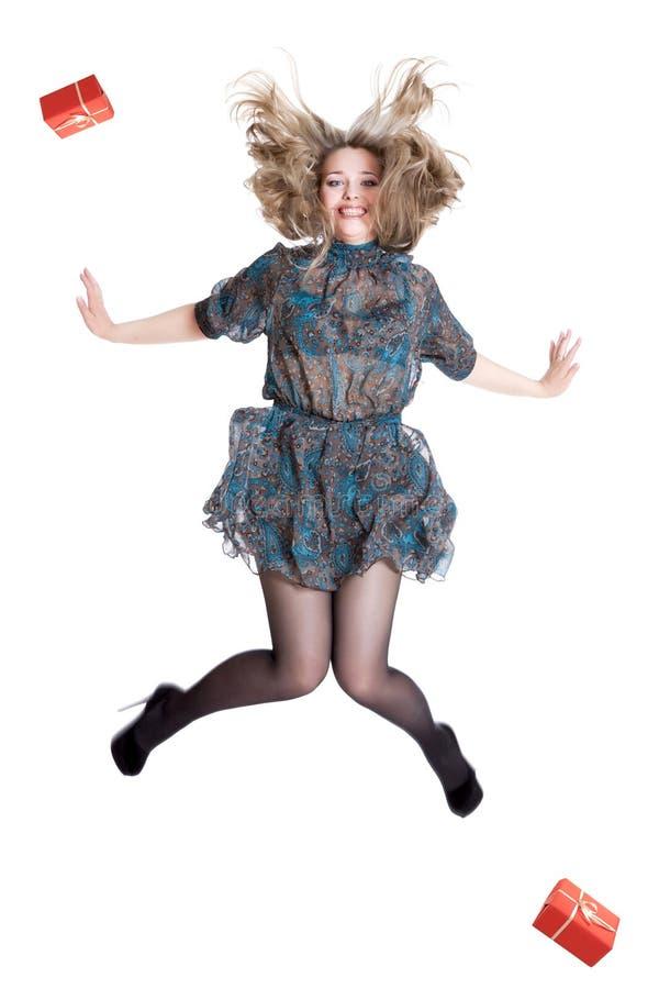 Mooi jong blonde die kleding dragen royalty-vrije stock foto