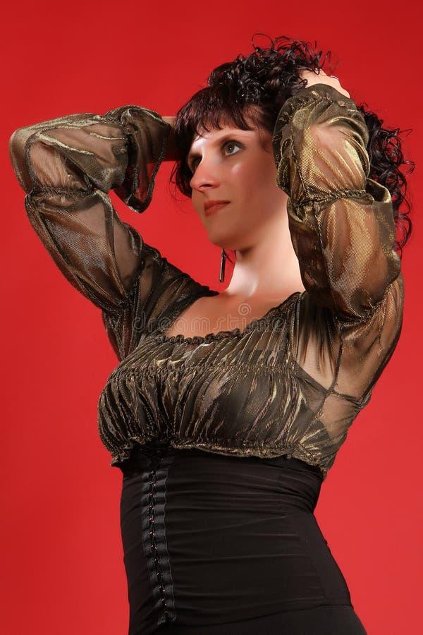 Mooi jong brunette stock fotografie
