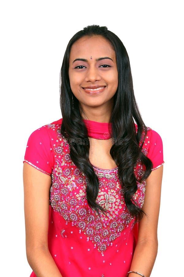 Mooi jong Indisch meisje. stock fotografie