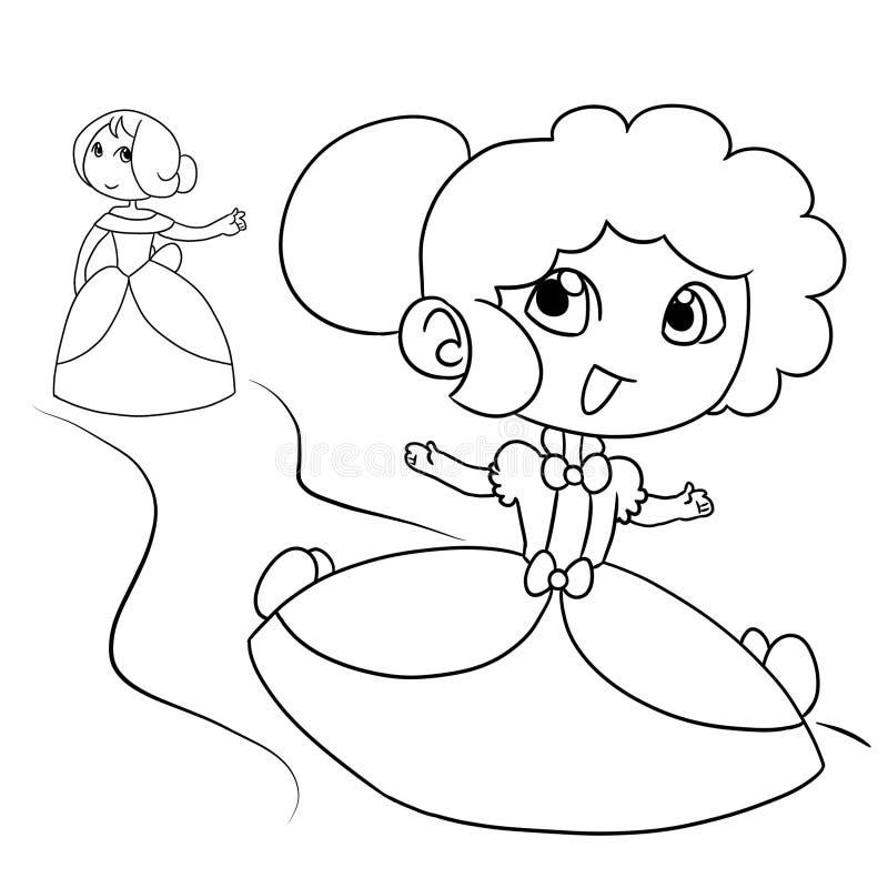 Mooi jong meisje twee stock illustratie
