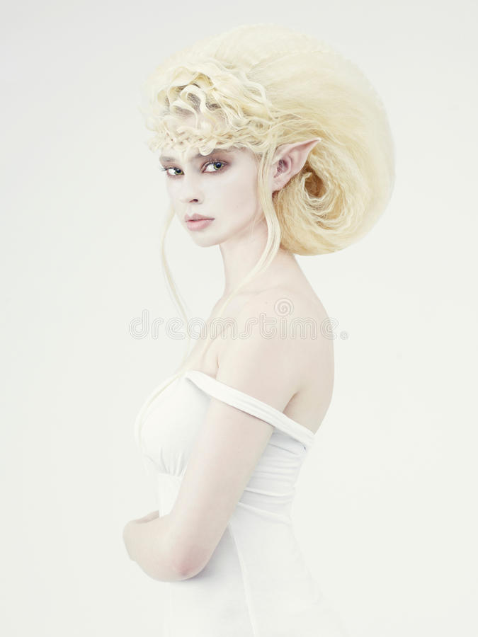 Mooi jong meisjeself royalty-vrije stock fotografie