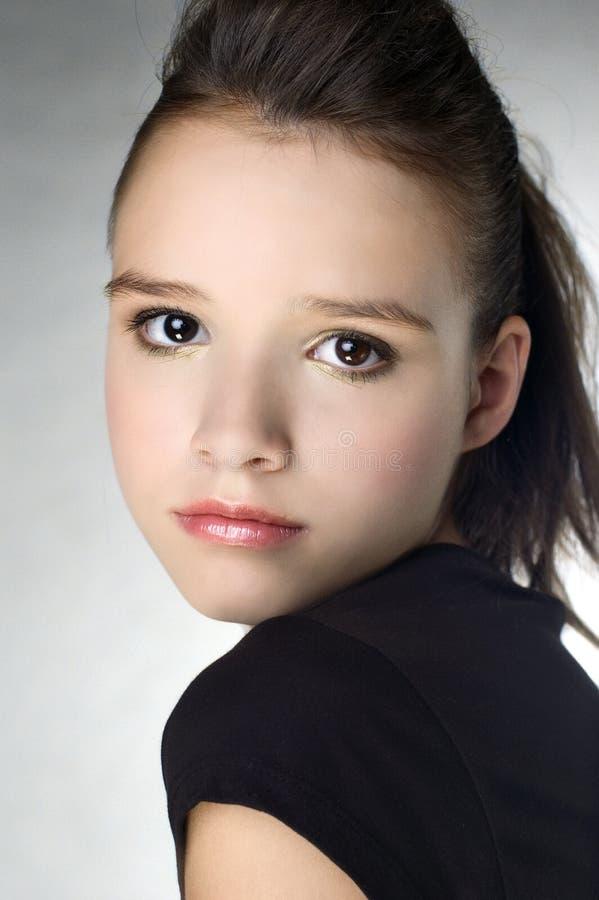 Mooi jong meisjesportret stock afbeelding