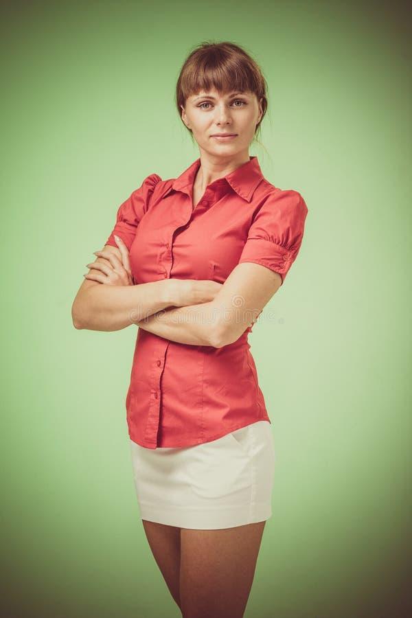 Mooi Jong Vrouwen Retro Portret stock fotografie