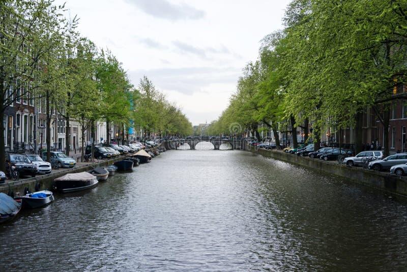 Mooi kanaal in Amsterdam royalty-vrije stock fotografie