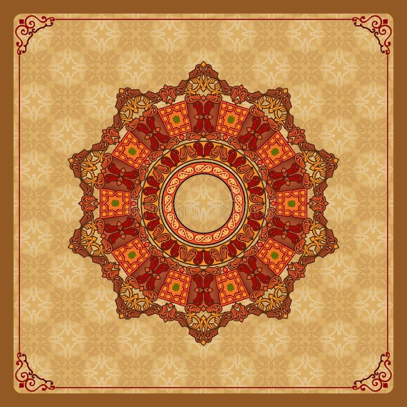 Mooi, kleurrijk, arabesques mandala/rozet royalty-vrije illustratie