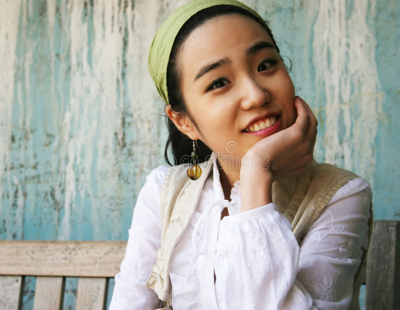 Mooi Koreaans meisje royalty-vrije stock foto's