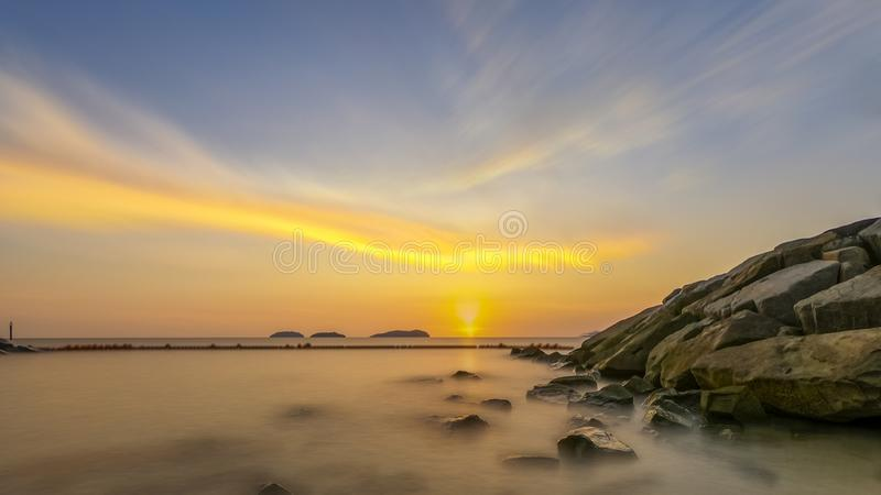 Mooi Kota Kinabalu stock fotografie