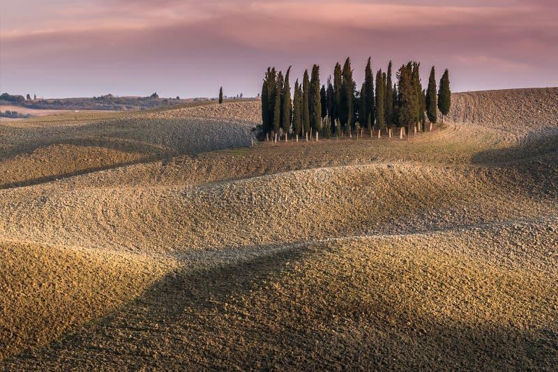 Mooi landelijk landschap stock afbeeldingen
