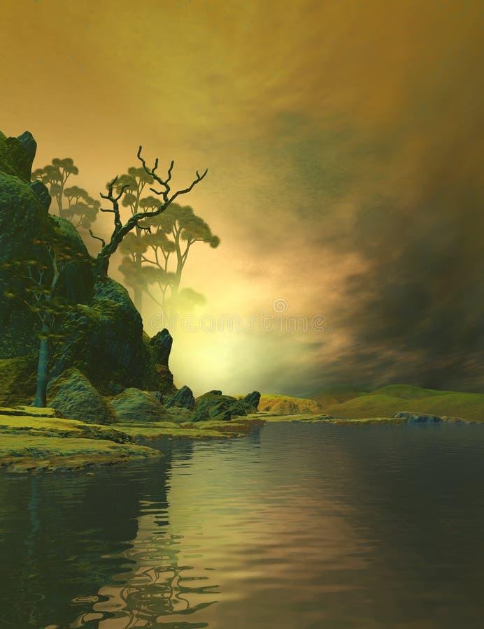 Mooi Landschap royalty-vrije illustratie