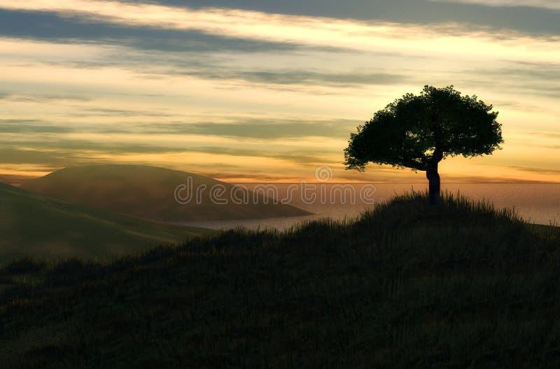Mooi landschap stock illustratie