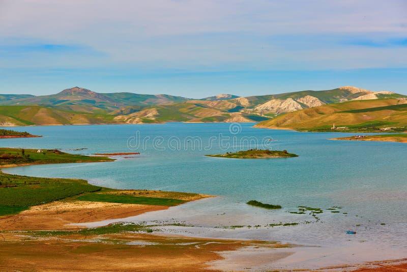 Mooi landschap in Atlasbergen, Noordelijk Marokko royalty-vrije stock afbeelding