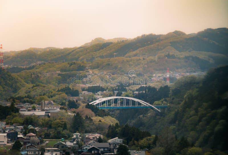 Mooi landschap in de Japanners stock afbeeldingen