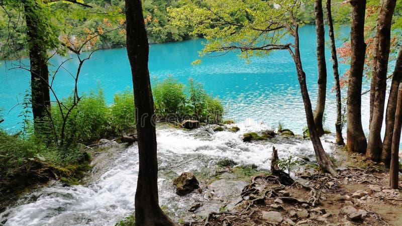 Mooi landschap in de Plitvice-Meren royalty-vrije stock fotografie
