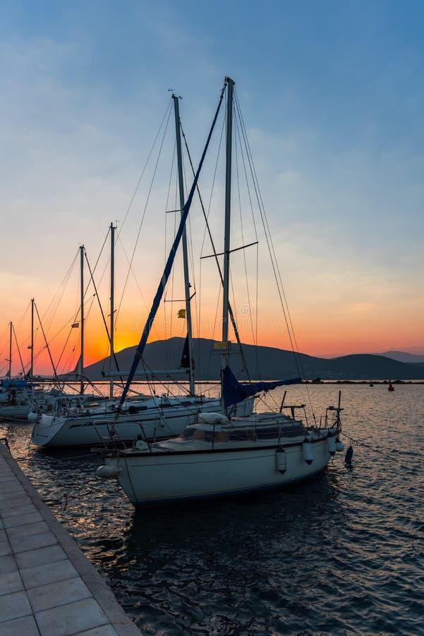 Mooi landschap in de zomer in Griekenland royalty-vrije stock fotografie