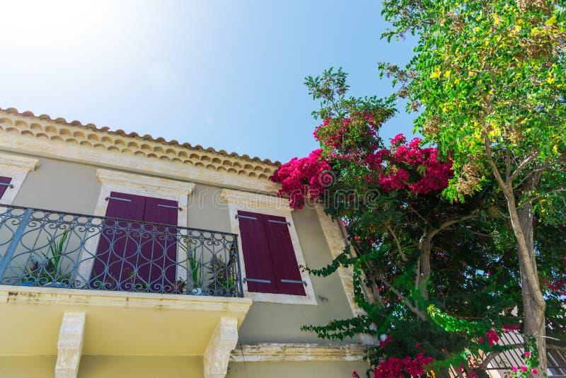 Mooi landschap in de zomer in Griekenland stock afbeeldingen