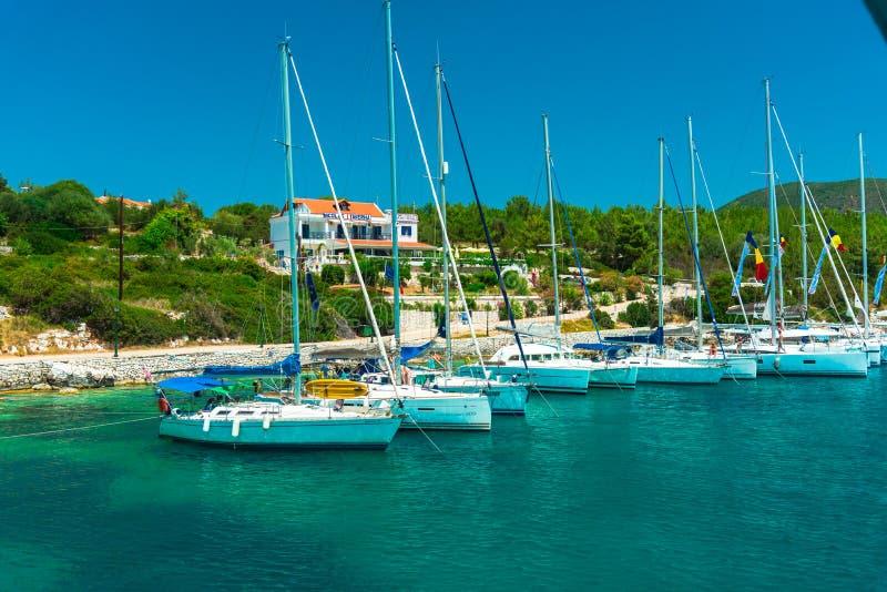 Mooi landschap in de zomer in Griekenland stock fotografie