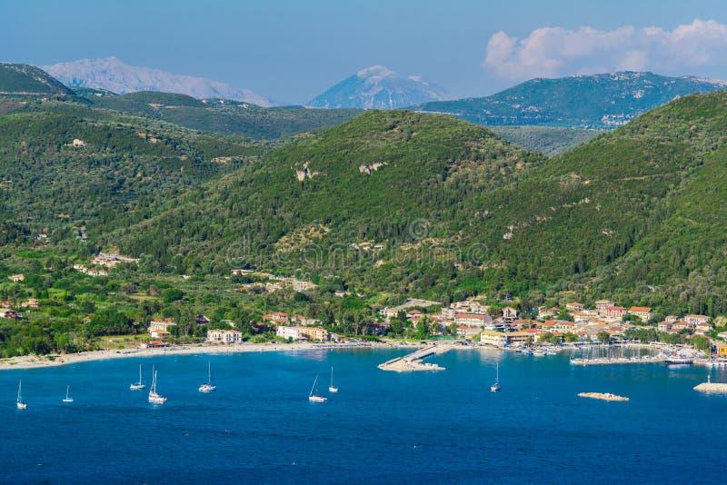 Mooi landschap in de zomer in Griekenland royalty-vrije stock foto's