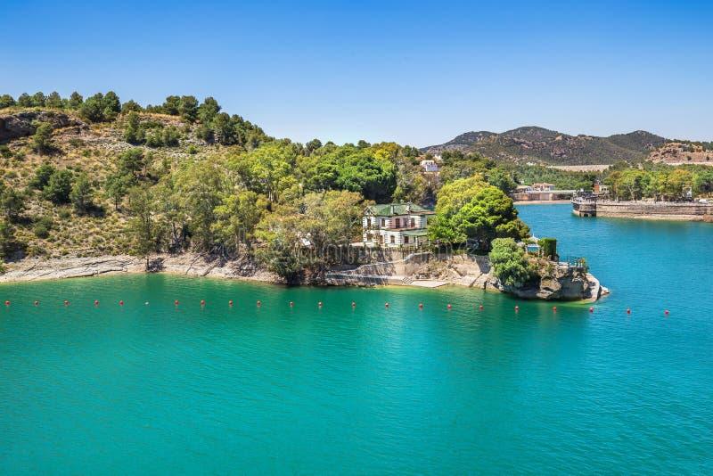 Mooi landschap dichtbij de Kloof van Gr Chorro, Andalusia, Spanje stock afbeeldingen