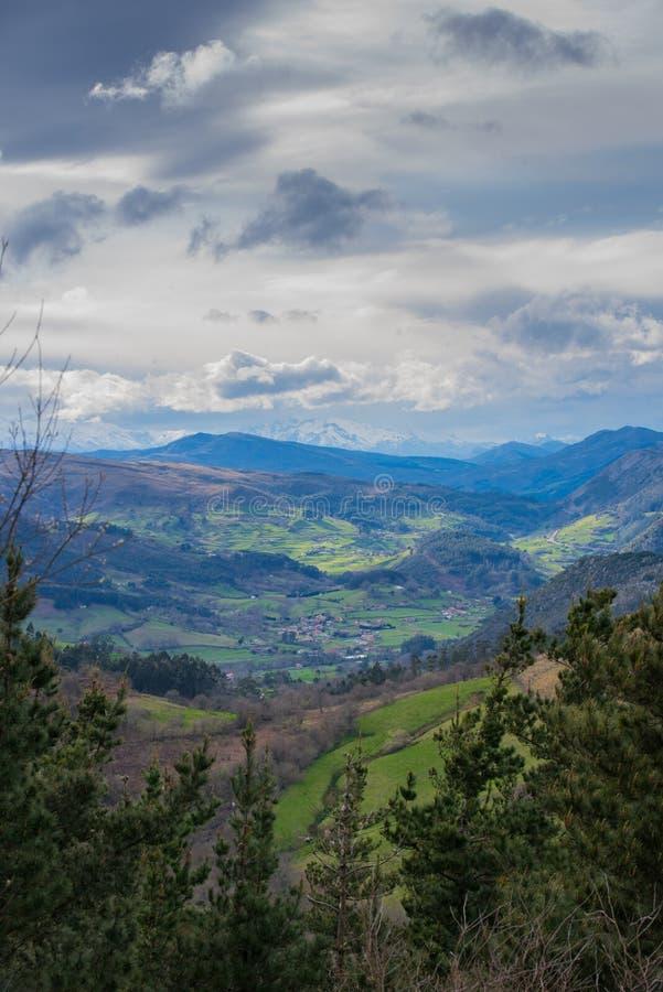 Mooi landschap in het hart van Spanje stock fotografie