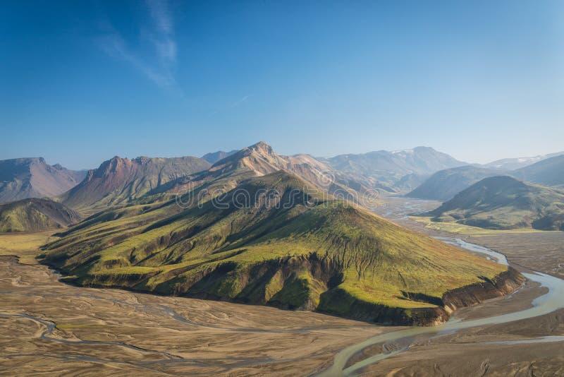 Mooi landschap in Landmannalaugar NP, IJsland royalty-vrije stock foto's