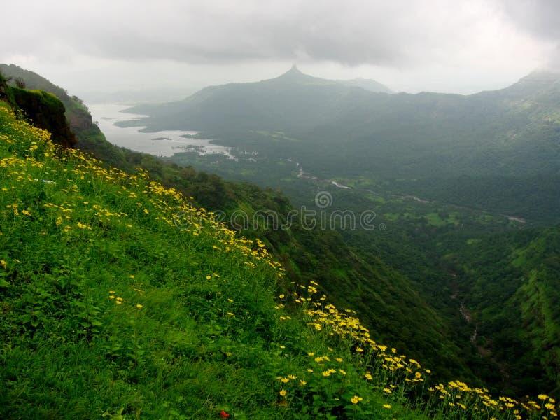 Mooi landschap Matheran stock foto's