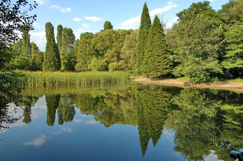 Mooi landschap met bezinning royalty-vrije stock afbeeldingen