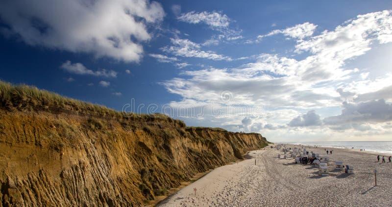 Mooi landschap op Sylt-eiland bij Noordzee stock afbeelding