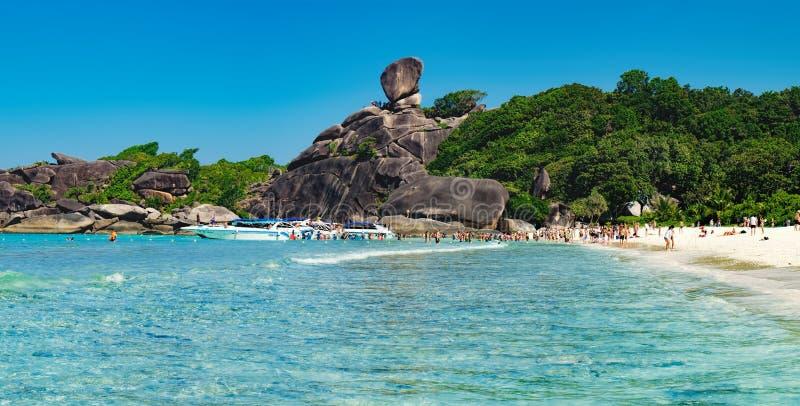 Mooi landschap, Similan-Eiland, Thailand stock afbeeldingen
