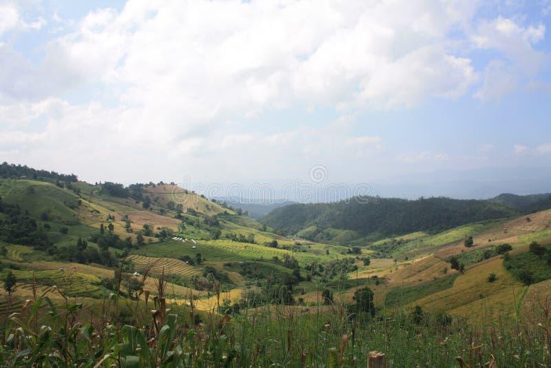 Mooi landschap van berg in aard stock afbeelding