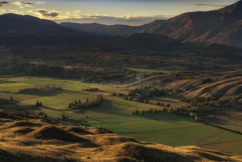 Mooi landschap van Kroon Piekqueenstown, royalty-vrije stock foto's