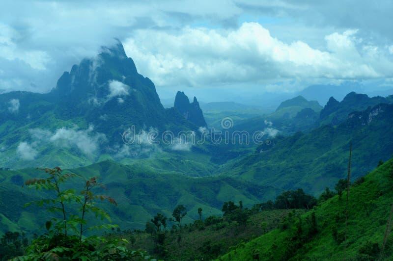 Mooi landschap van Laos stock foto