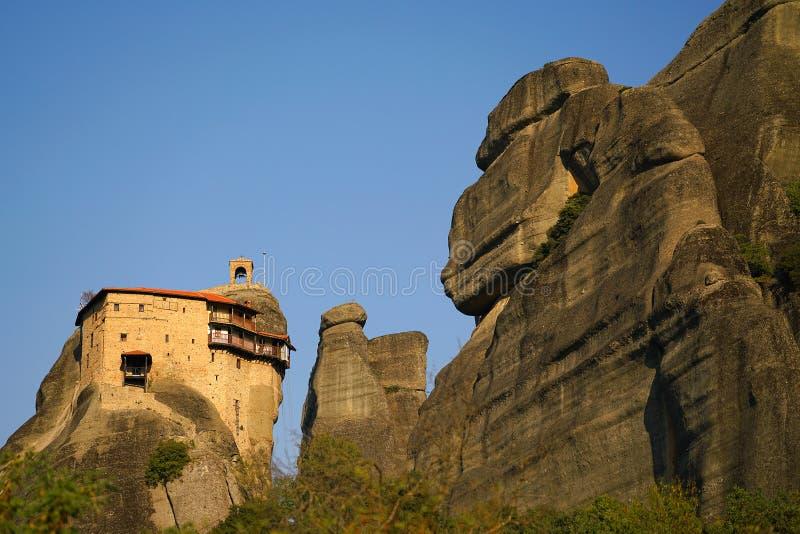 Mooi landschap van Meteora, Griekenland met zijn kloosters, zijn bergen en aard royalty-vrije stock fotografie