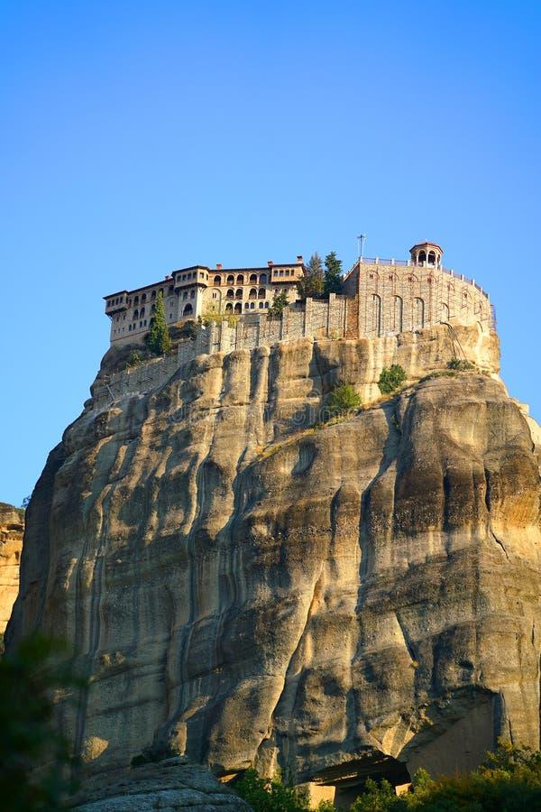 Mooi landschap van Meteora, Griekenland met zijn kloosters, zijn bergen en aard royalty-vrije stock foto's