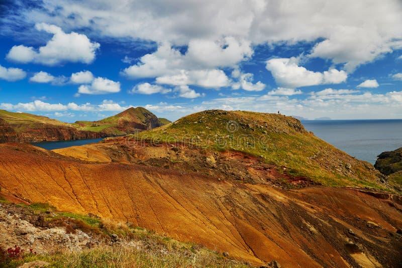 Mooi landschap van Ponta DE Sao Lourenco op de Oostelijke kust van het eiland van Madera stock afbeeldingen