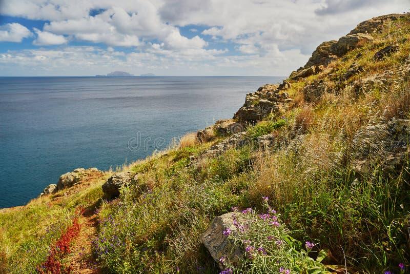 Mooi landschap van Ponta DE Sao Lourenco op de Oostelijke kust van het eiland van Madera royalty-vrije stock foto