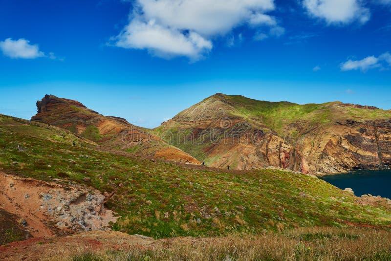 Mooi landschap van Ponta DE Sao Lourenco op de Oostelijke kust van het eiland van Madera stock fotografie
